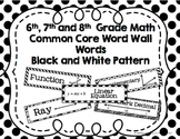 6th, 7th and 8th Grade Math Common Core Word Wall Words- B