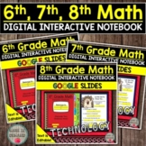 6th, 7th, and 8th Grade Math Digital Interactive Notebooks