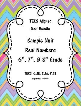 6th, 7th, and 8th Grade Math Sample Unit