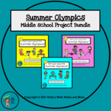 6th, 7th, and 8th Grade Review Bundle - Summer Olympics Projects - Digital