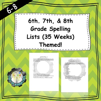 6th, 7th, and 8th Grade Spelling Lists (35 weeks)