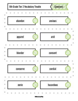 6th, 7th and 8th Grade Tier 2 Vocabulary Trouble Combo Pack