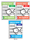 6th, 7th and 8th Grade Tier 2 Vocabulary Words Tumbling Towers Combo Pack