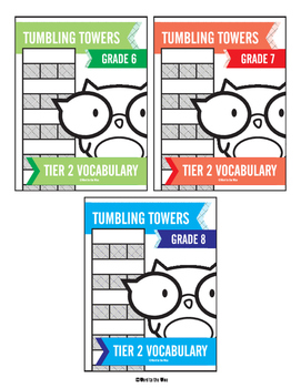 6th, 7th and 8th Grade Tier 2 Vocabulary Words Tumbling To