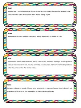 6th-8th Common Core Standard Cards