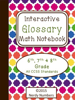6th-8th Grade CCSS Math Vocabulary Frayer Model Interactive Notebook Glossary