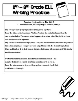 6th - 8th Grade ELL ACCESS Writing Practice