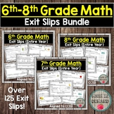 6th-8th Grade Math Exit Slips Bundle