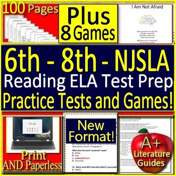 6th - 8th Grade NJSLA ELA Reading Bundle! New Jersey Student Learning Assessment