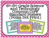 6th-8th Grade Science and Technology Common Core Posters-