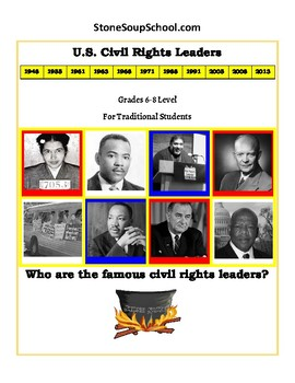 """6th - 8th Grade """"U.S. Civil Rights Leaders"""" for Traditional Students"""
