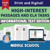 6th-8th Middle School Bundle: High-Interest Informational Texts & TASKS Digital