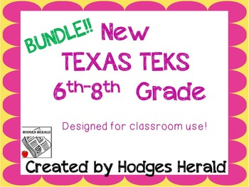 6th-8th Texas Standards-DEPARTMENT Bundle
