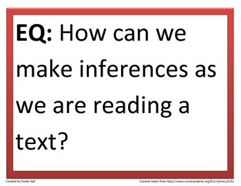 6th Common Core Reading Essential Questions (1st 9 Weeks)
