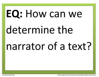 6th Common Core Reading Essential Questions (3rd 9 Weeks)