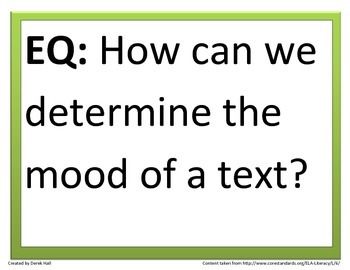 6th Common Core Reading Essential Questions (Bundle)