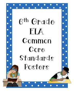 6th ELA Common Core Standards Posters (All Standards)