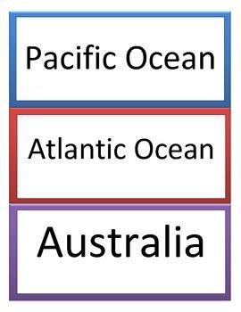 6th GPS Social Studies Canadian & Australian Geography Word Wall