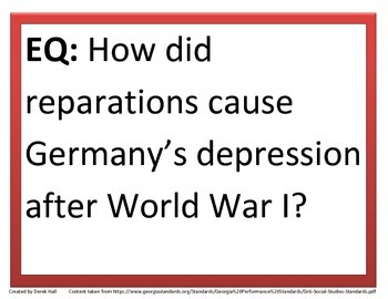 6th GPS Social Studies Essential Questions (Europe)