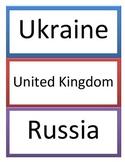 6th GPS Social Studies European Geography Word Wall