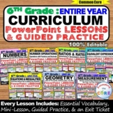 6th GRADE MATH CURRICULUM PowerPoint Lessons DIGITAL BUNDL