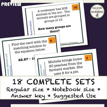 6th GRADE MATH Ratio and Number System Task Card Activity Bundle (SAVE)
