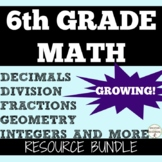 6th GRADE MATH Ultimate Teacher Resource Bundle PI DAY SALE