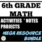 6th grade math MEGA Bundle of resources