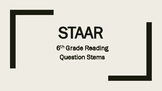 6th Grade 2018 Reading STAAR Question Stems