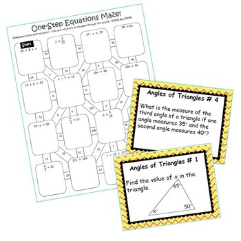 6th Grade, 7th Grade 8th Grade Math Resources ~ Milestone FREEBIE