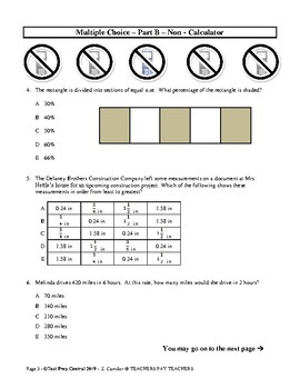 6th Grade 'AP-Style' Mathematics Assessment
