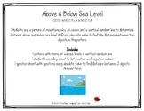 6th Grade Above & Below Sea Level CCSS: 6.NS.C.7.c & 6.NS.C.7.d