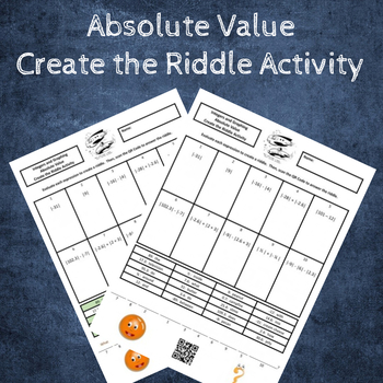 6th Grade:  Absolute Value Create the Riddle Activity