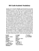 6th Grade Academic Vocabulary Word Search
