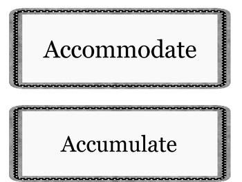 6th Grade Academic Vocabulary Word Wall