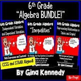 """6th Grade Algebra """"Bundle"""", CCSS and STAAR Aligned!"""