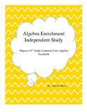 6th Grade Algebra Projects or Independent Study Bundle