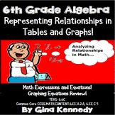 6th Grade Algebra Representing & Graphing Equations
