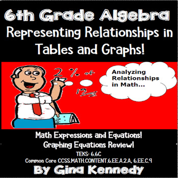 6th Grade Algebra Representing & Graphing Equations