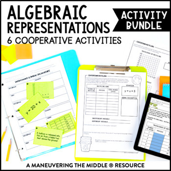 6th Grade Algebraic Representations Activity Bundle