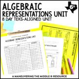 Algebraic Representations Unit: 6th Grade TEKS 6.4A, 6.6A, 6.6B, 6.6C, 6.11A