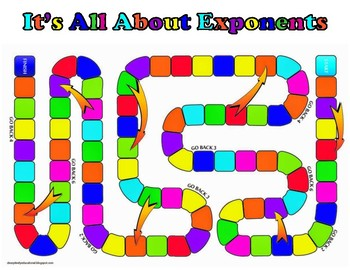 6th Grade - All About Exponents Game 6.EE.A.1
