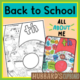 6th Grade All About Me Book - Back to School Activities - First Week of School