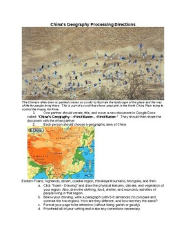 6th Grade Ancient China Geography Research Report Details