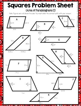 6th Grade Area of Triangles, Area of Parallelograms, Area of Trapezoids {6.G.1}