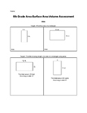 6th Grade Area, Surface Area, and Volume Assessment