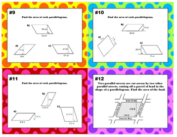 Area of Triangles/ Quadrilaterals/Polygons by Composing/Decomposing 6.G.B.1