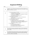 6th Grade Argument Writing Rubric