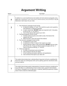 argumentative writing 6th grade