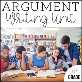 6th Grade Argument Writing - Unit 3 {6 Weeks of CCSS Align